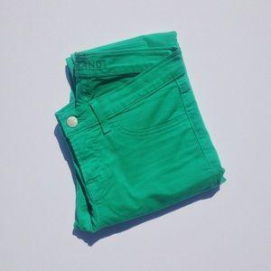 J Brand Emerald Skinny Jeans